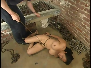 Loni the poor Latina gets tied up and humiliated
