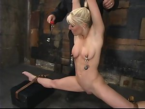 Stunning Bobbi Dean gets whipped and then toyed