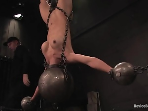 Tia Ling gets hung up and tortured in a basement and seems to enjoy it