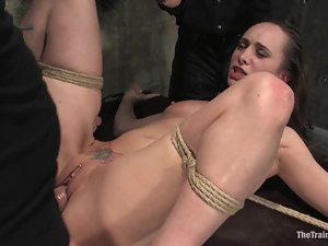Crazy Maya Matthews gets bounded and fucked in her mouth