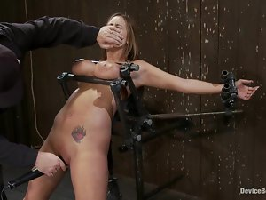 Busty Trina Michaels have fun in rough BDSM video