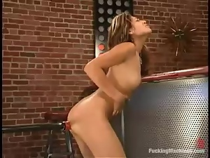Lena Julliete fingers her pussy and gets toyed in a bar