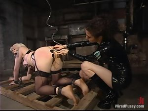 Lorelei Lee gets her pussy toyed and ass hit with electricity