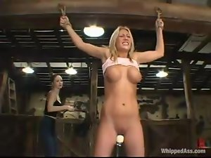 Sexy Chanta-Rose gets toyed hard by Natalia in a stable