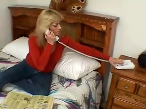 Horny granny is loving a fresh meat in her beaver