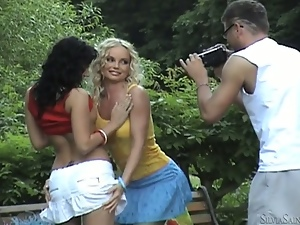 Amazing backstage video of blonde hottie Silvia Saint