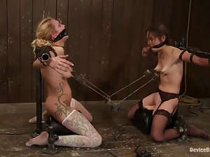Two kinky chicks get humiliated and then fingered