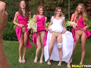 The wedding day ends up with the last lesbian foursome