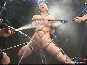 Curvaceous Crystal Frost gets toyed hard in water bondage video