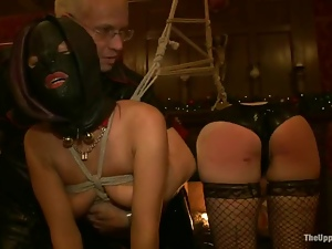 Girls in bondage masks get tortured and fucked hard