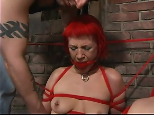 Kory Vixen the kinky redhead chick gets whipped