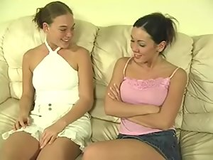 Amazing Brianna and Jenna in hot spanking video