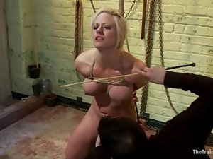 Hot Holly Heart gets tied up and toyed hard in her pussy