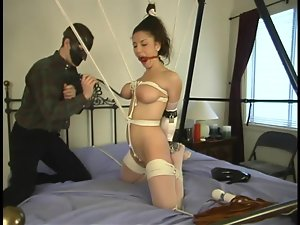 Sexy Jewell Marceau gets tied up and toyed in the ass