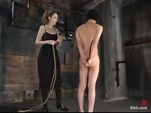 Horny girl mocks and humiliates Scott Lee in femdom video
