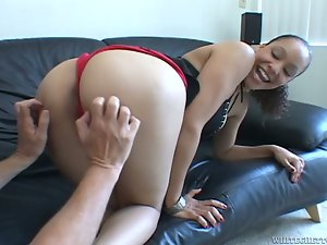Mulatto Shyla Haze gets rammed and creampied by White man