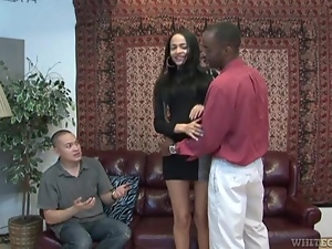 Slender Kimberly Kendall gets rammed by Black man