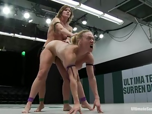 Ariel X toys Darling's pussy and sits on her face after a fight