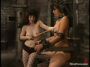 Maya gets whipped and tortured with electricity by Selina Minx