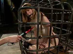 Bobbi Starr loves keeping her sex slaves in the cage