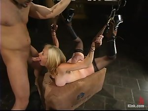 Adrianna Nicole gets her pussy fisted and pounded in BDSM scene