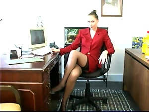 Masturbating in the office makes her feel so extreme