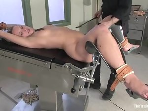 Harmony gets blindfolded and fucked hard in BDSM scene