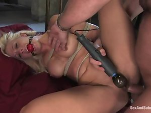 Sexy Holly Heart gets bounded and then fucked in her ass