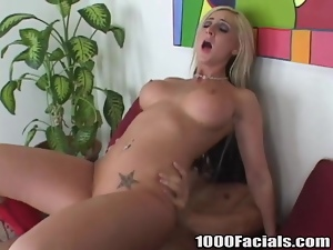 Riley Chase blows and gets fucked in the reverse cowgirl position