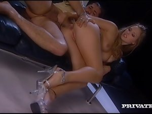 Katy Caro blows and gets her pussy and ass smashed