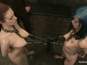 Iona Grace and Krysta Kaos get tortured and forced to play lesbian games
