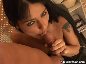 Passionate brunette takes big dick in her tight ass in POV video