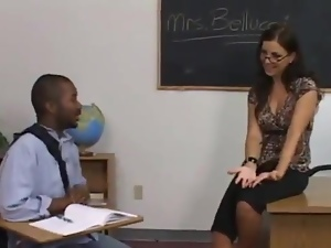 Maria the hot teacher gets fucked hard by her Black student