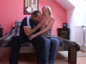 Filthy blond chick Susi is riding her old friend