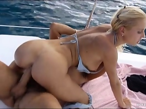 Sex on the yacht with an amazing babe Julie Silver