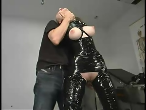 Chanta-Rose gets wrapped in adhesive tape and dominated