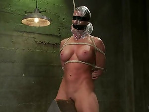 Two sexy bitches play BDSM games after fighting on tatami