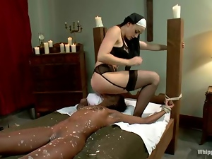 Sexually obsessed nun is torturing her ebony sister