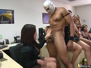 The reality porn with some office babes at the corporate party