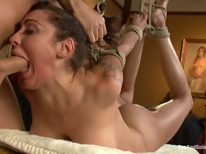 Princess Donna Dolore gets her mouth and ass fucked deep and hard
