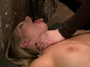 Pretty Bailey Blue gets choked and toyed by her mistress