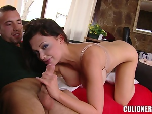 Aletta Ocean gets her holes licked, fucked and creampied