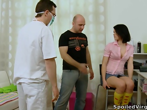 Pretty Dasha gets fucked in front of a doctor