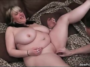 Fat pussy fingered and fucked in lusty porn clip