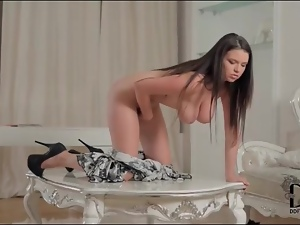 Gorgeous Marina Visconti masturbates