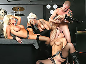 Three pornstars in sexy boots