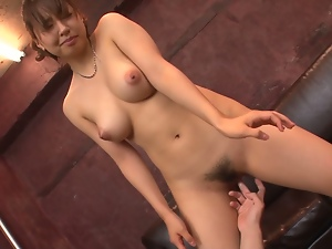 buruma aoi with big tits gets her face covered in cum.finger and toy