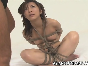 Japanese babe tied and deeply fucked Bondage
