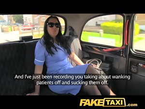 FakeTaxi Adventures of a taxi cab with big tits and tig