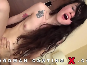 European girl in ATM casting